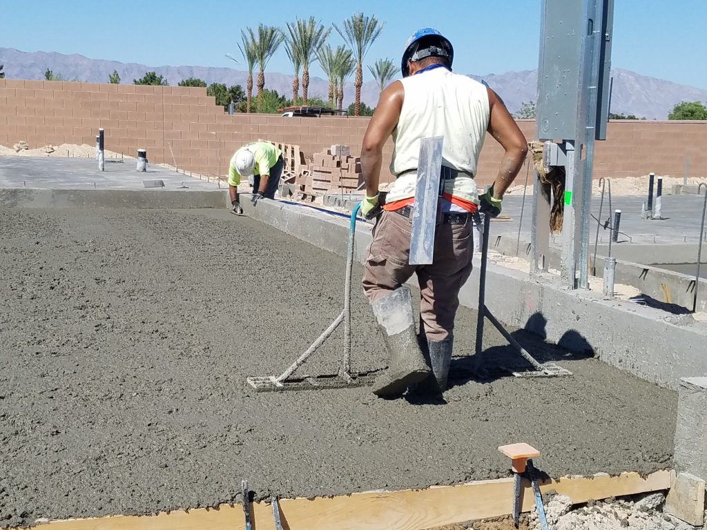 Laying concrete foundations, Silver Lake Construction