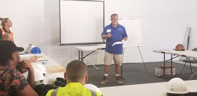 Silver Lake's Randy Griebel at New HomeAid Construction Trade Program